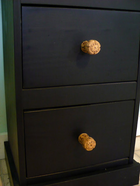 champagne cork drawer pulls