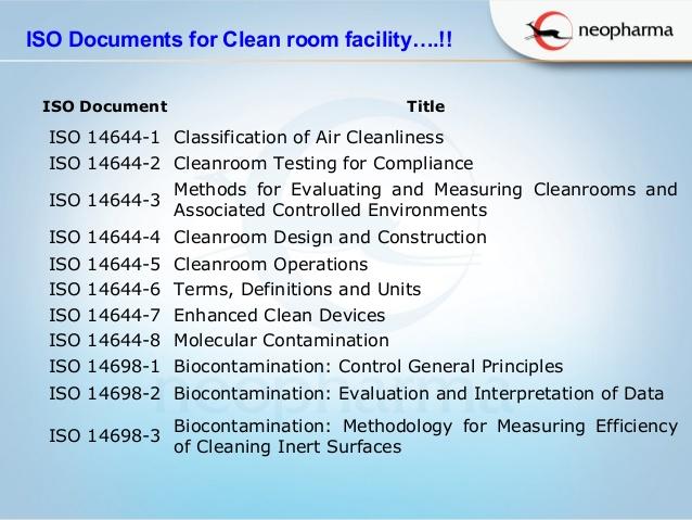 Tiêu chuẩn thiết kế phòng sạch