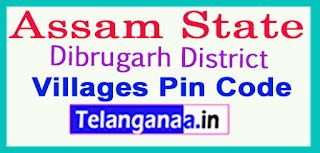 Dibrugarh District Pin Codes in Assam  State