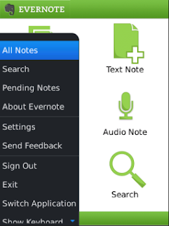 Evernote for BlackBerry 10