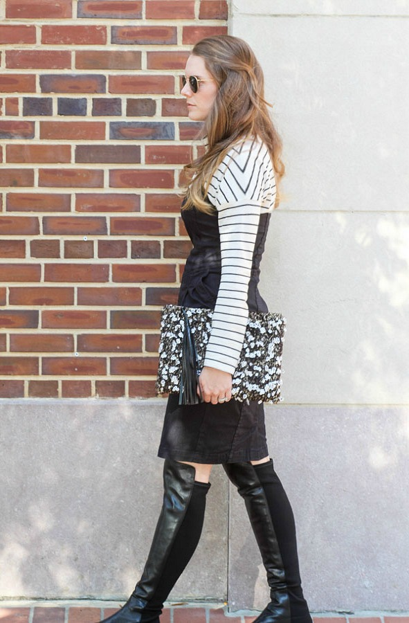 Layering stripes for fall