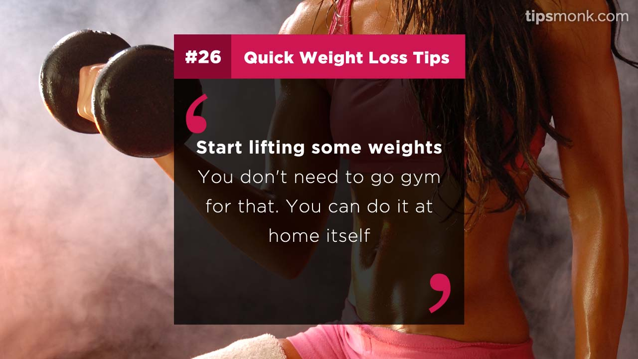 How to reduce weight fast at home - easy weight loss tips