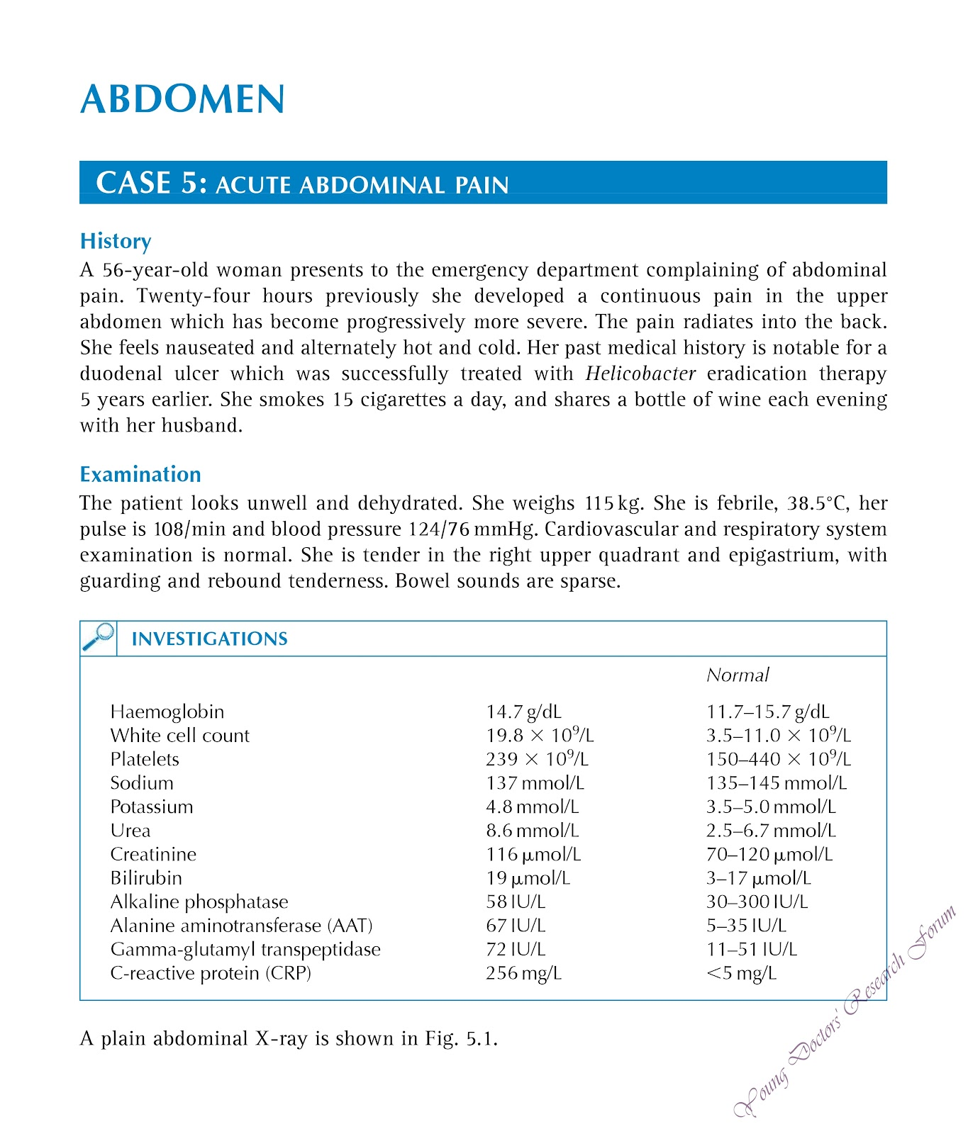 Clinical Case 5 : Acute Abdominal Pain ~ YOUNG DOCTORS