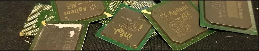 ان واحد كيلو غرام من  IC chips GPU، تحتوي على 6 غرام ذهب