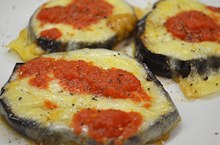Eggplant And Mozzarella Rounds Hot From The Oven