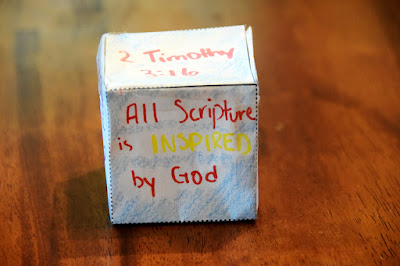 2 Timothy 3:16 bible verse game with cube
