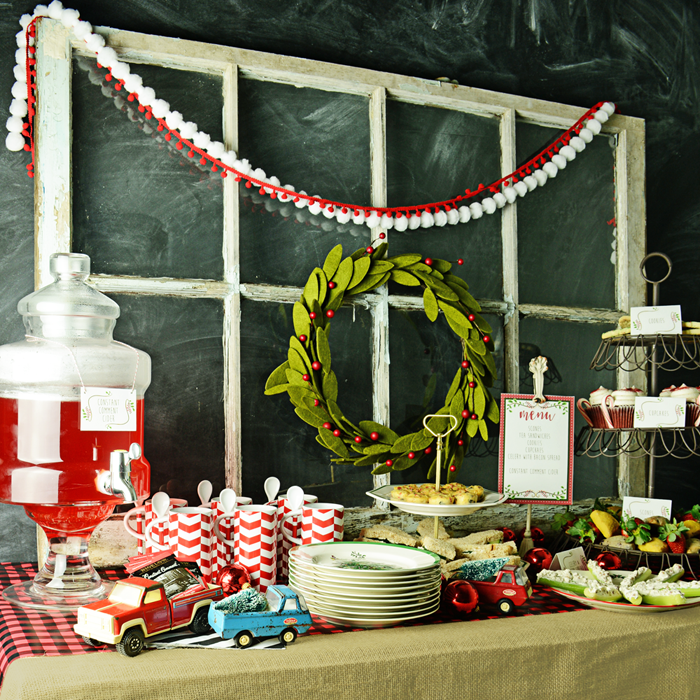 Put an eclectic spin on your holiday entertaining with these vintage Christmas luncheon ideas. They're a fun way to bring a casual touch to a tea party or luncheon for your friends and family. Includes free printable menu cards, too.