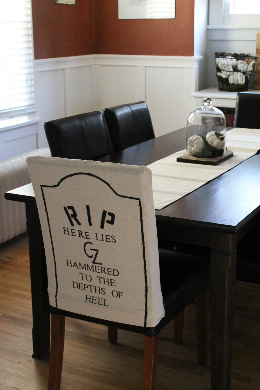 Dining Room Chair Bottom Covers Hanging Dorm Hammers And High Heels: Diy Halloween Themed Gravestone Covers!