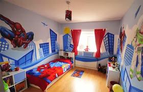 gambar rumah idaman: dekorasi lukisan kamar tidur anak