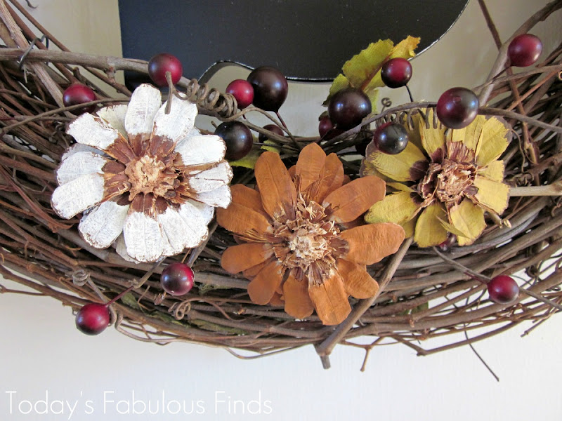 Today's Fabulous Finds: Fall Grapevine Wreath With Pine
