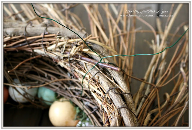 From My Front Porch To Yours- Easter Wreath-Tutorial