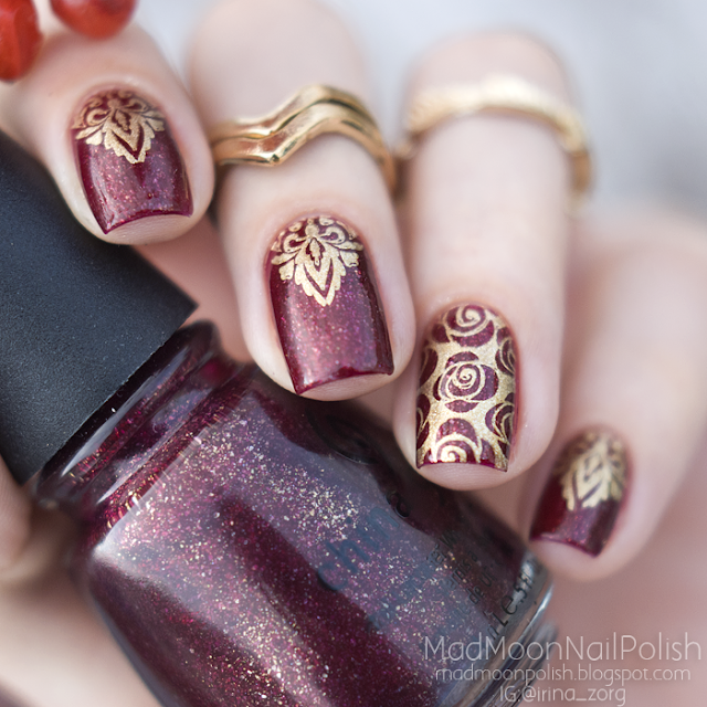 China Glaze Stroll и стемпинг Moyou Pro Collection - 07