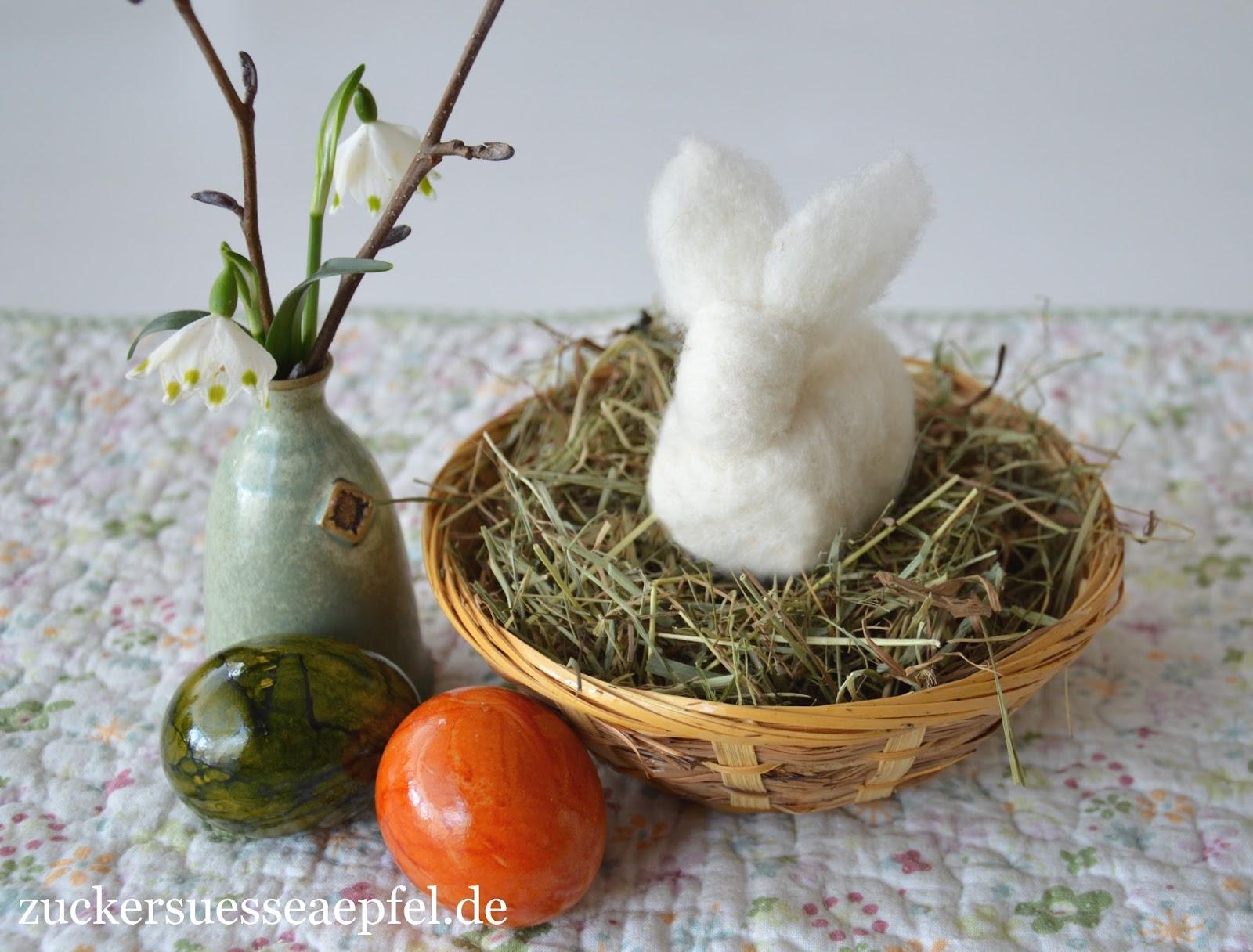 Süße Gefilzte Hasen Als Geschenk Zu Ostern Als Osterdekoration Oder