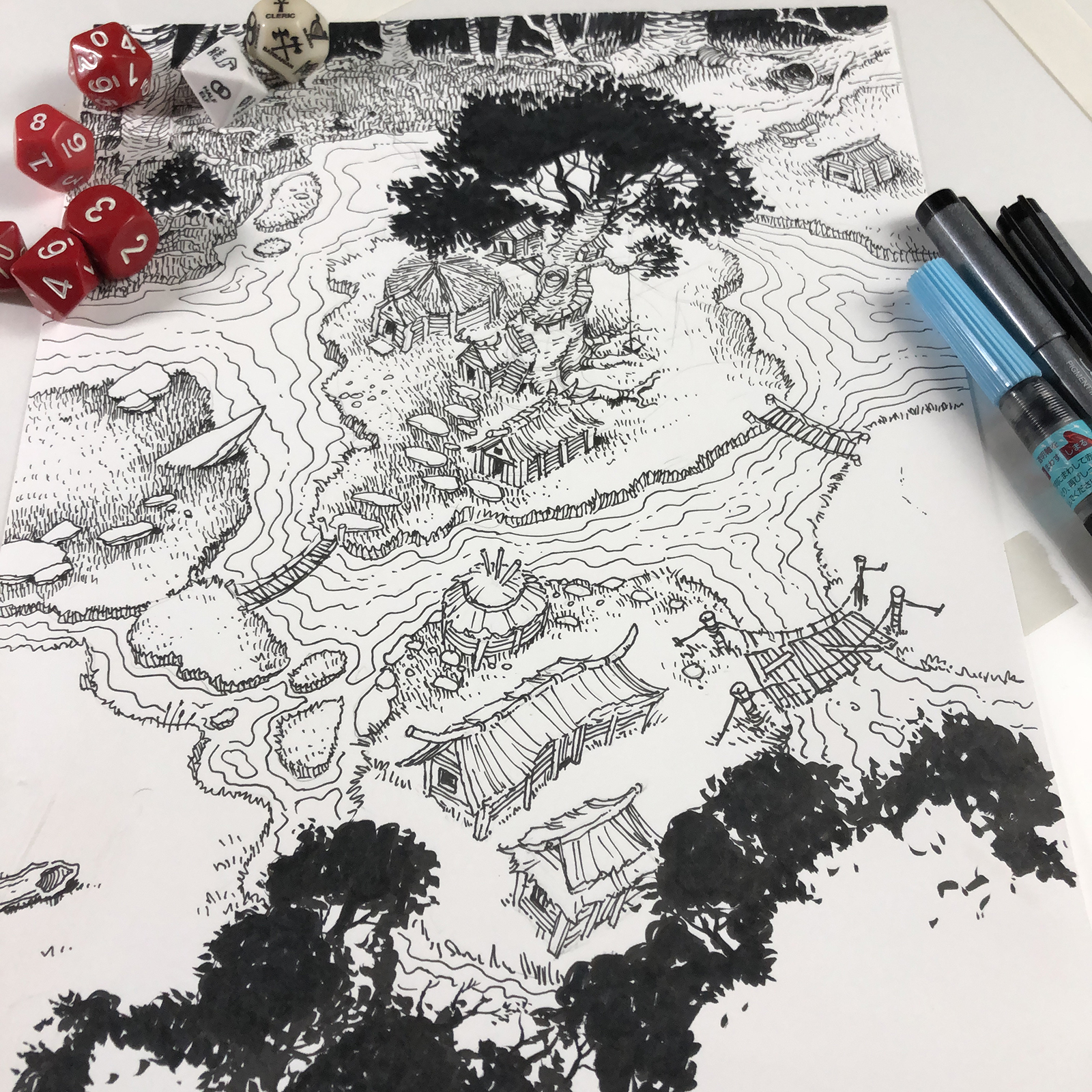 picture regarding Free Printable Scenery named Swamp Village - Printable Landscapes Fixed RPG RPGGeek