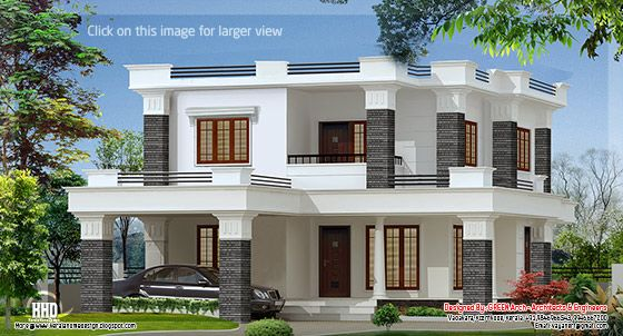 Flat roof villa design