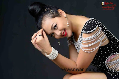 Actress Shwe Hmone Yati with cute smile