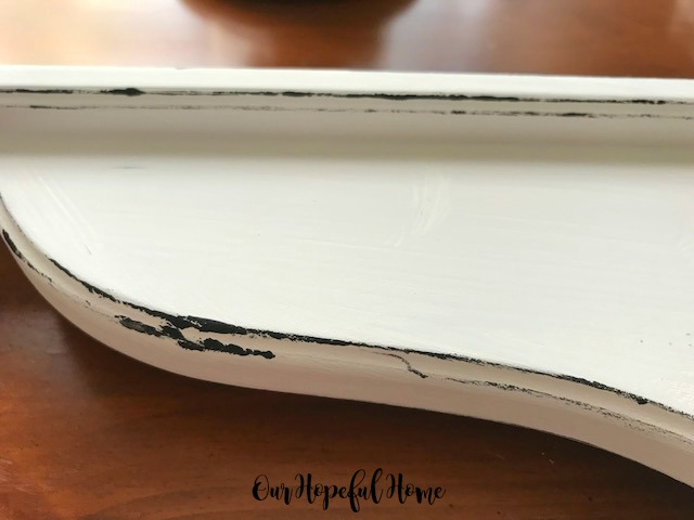 "distressed Ikea Hensvik white 7"" reversible corbel"