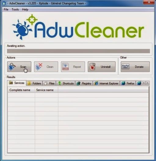 AdwCleaner-to remove pop-ups generating adware
