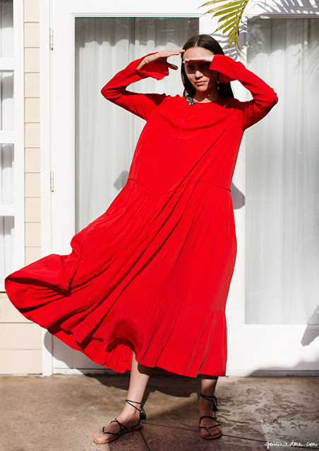 Summer Breeze Red Dress by N 21 | photo Garance Doré
