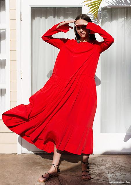 Summer Breeze Red Dress by N 21 | photo Garance Doré