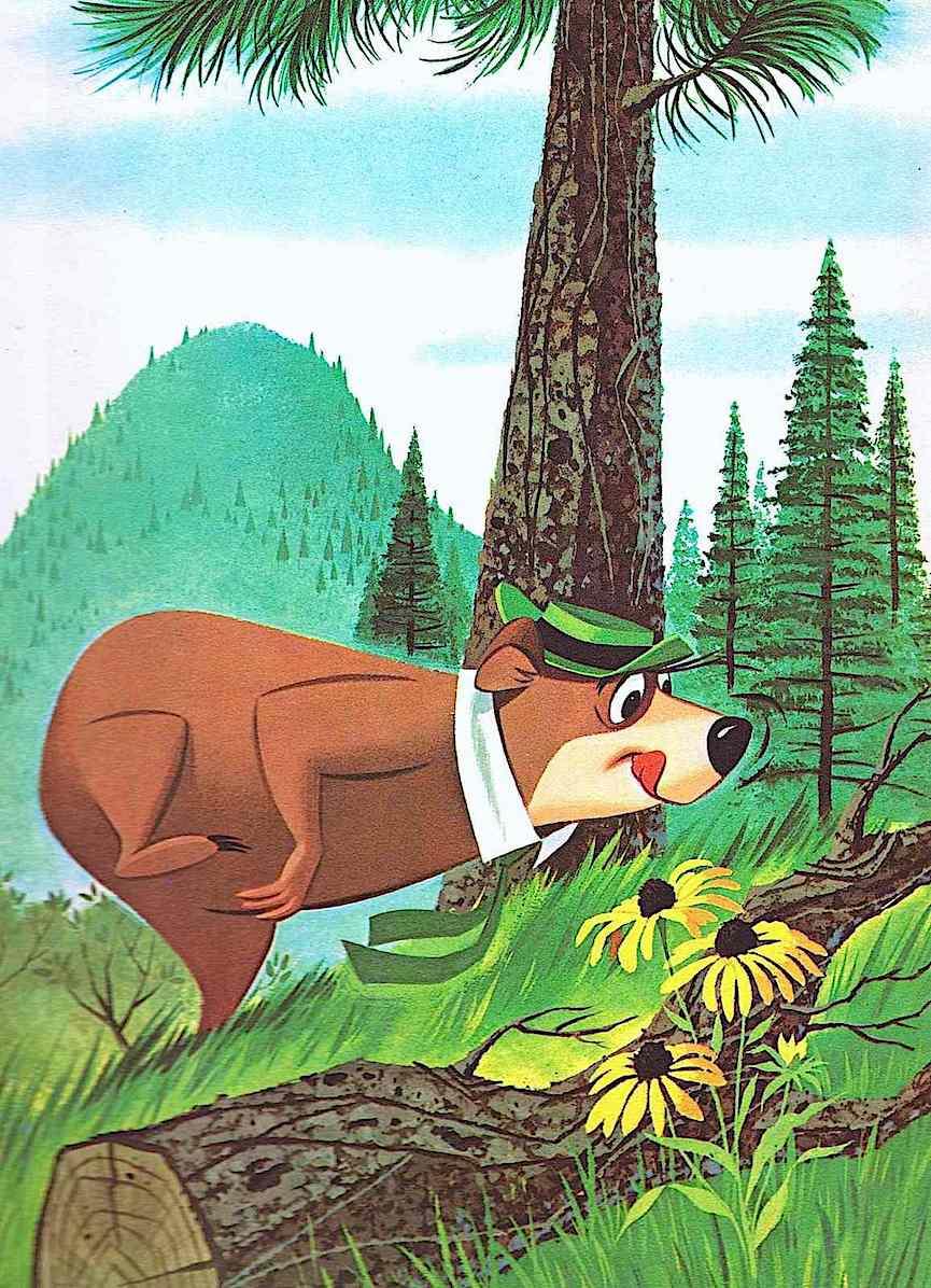 Norman McGary & Hawley Pratt for a 1961 children's book, Yogi bear hunting picnic baskets
