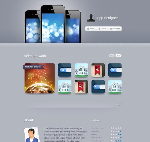 App Designer Portfolio PSD