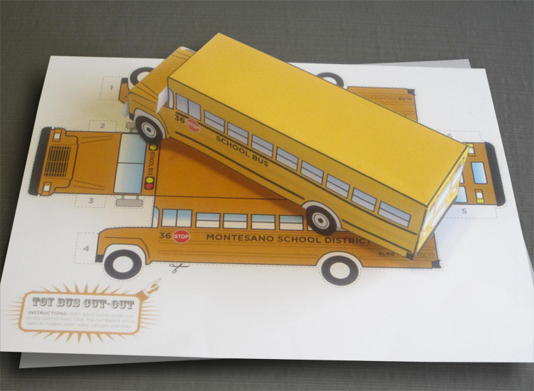 School Bus Cut-Out for school district promotion
