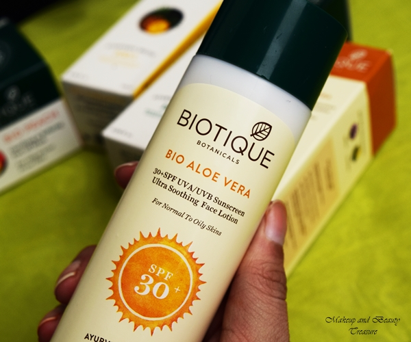 biotique bio aloe vera sunscreen review