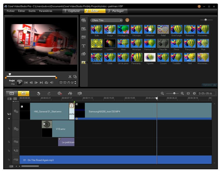 using corel videostudio pro it took about 25 minutes to build our video test pattern build video studio