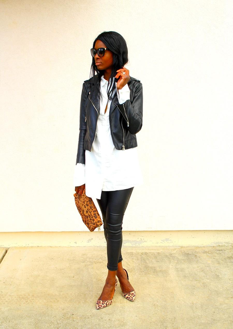style-blog-perfecto-zara-mango-chemise-blanche-longue-escarpins-leopard-sac