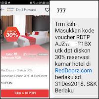 Menukar telkomsel poin dengan kupon diskon hotel