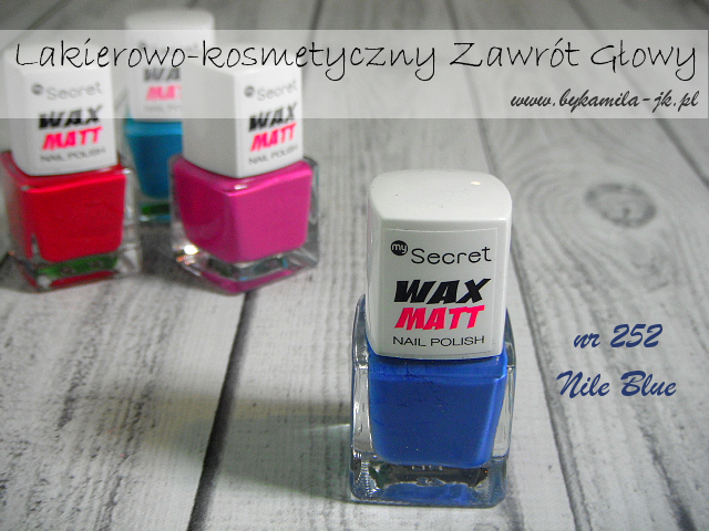 Lakiery My Secret Wax Matt - Nile Blue