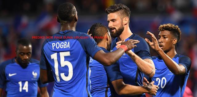 Prediksi Skor Uruguay vs Prancis 7 Juli 2018