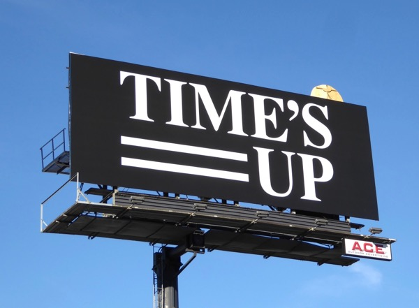 Times Up billboard