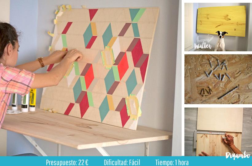 Diy mesa abatible para taller pintura diyambo blog - Hacer mesa abatible ...