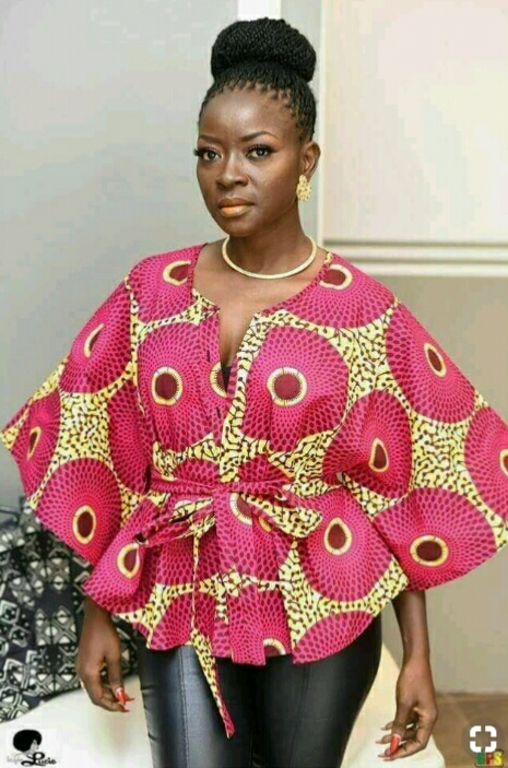 ankara butterfly dress style for breastfeeding moms