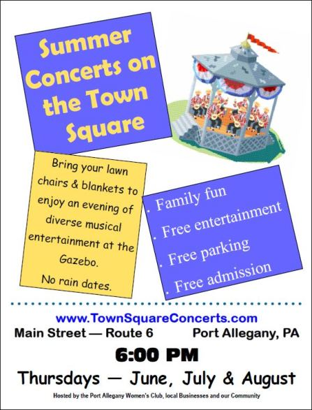 June Thru August Concerts On The Square