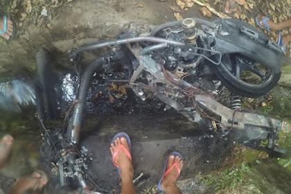 Terjadi Pembakaran Motor Beat di Desa Les Tejakula