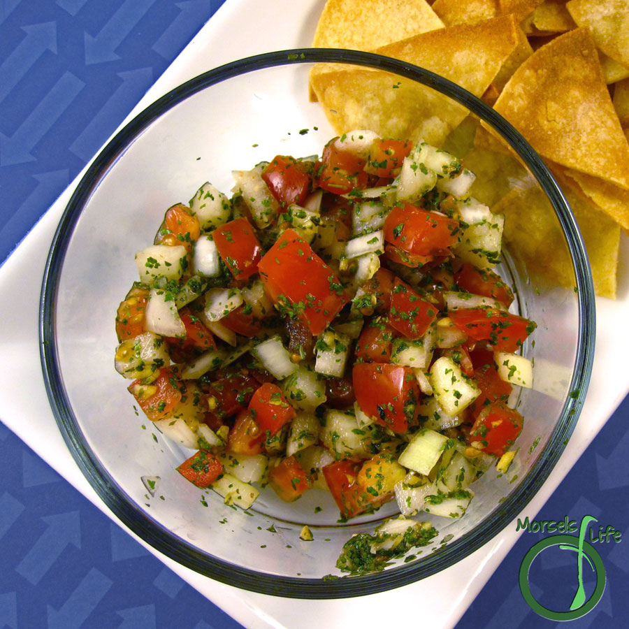 Morsels of Life - Pico de Gallo - A light and fresh pico de gallo with all the basics - tomato, onion, cilantro, lime, and garlic!