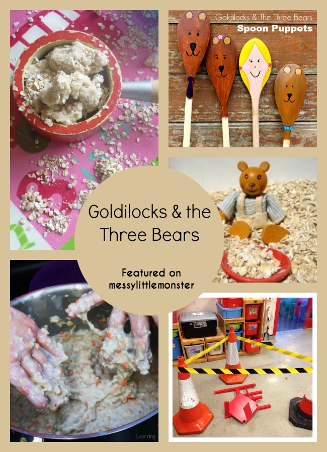 Goldilocks and the three bears themed crafts and activities for kids