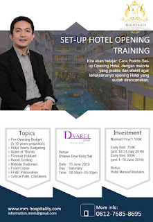 Hotelier Training Program (Bali): Set-up Hotel Opening