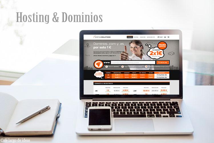 Nombre de dominio y hosting