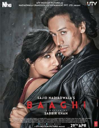 Poster Of Baaghi 2016 Hindi 720p DVDScr x264 Watch Online Free Download Worldfree4u