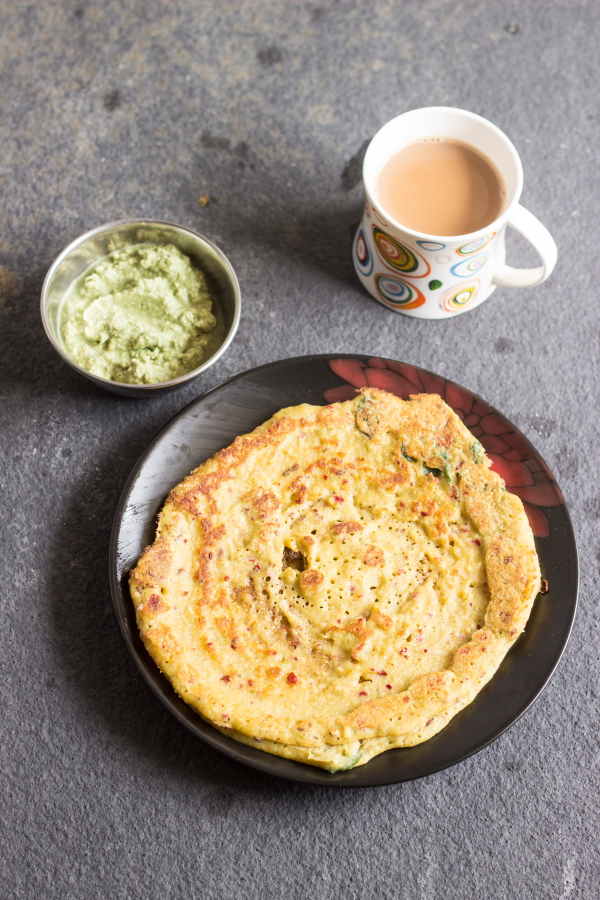 How to make adai or bele dosa or lentil crepes or dal dosa at www.oneteaspoonoflife.com