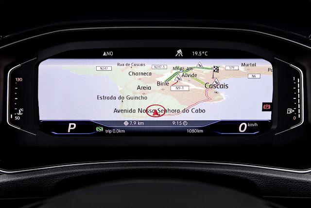 Volkswagen T-ROC - painel digital