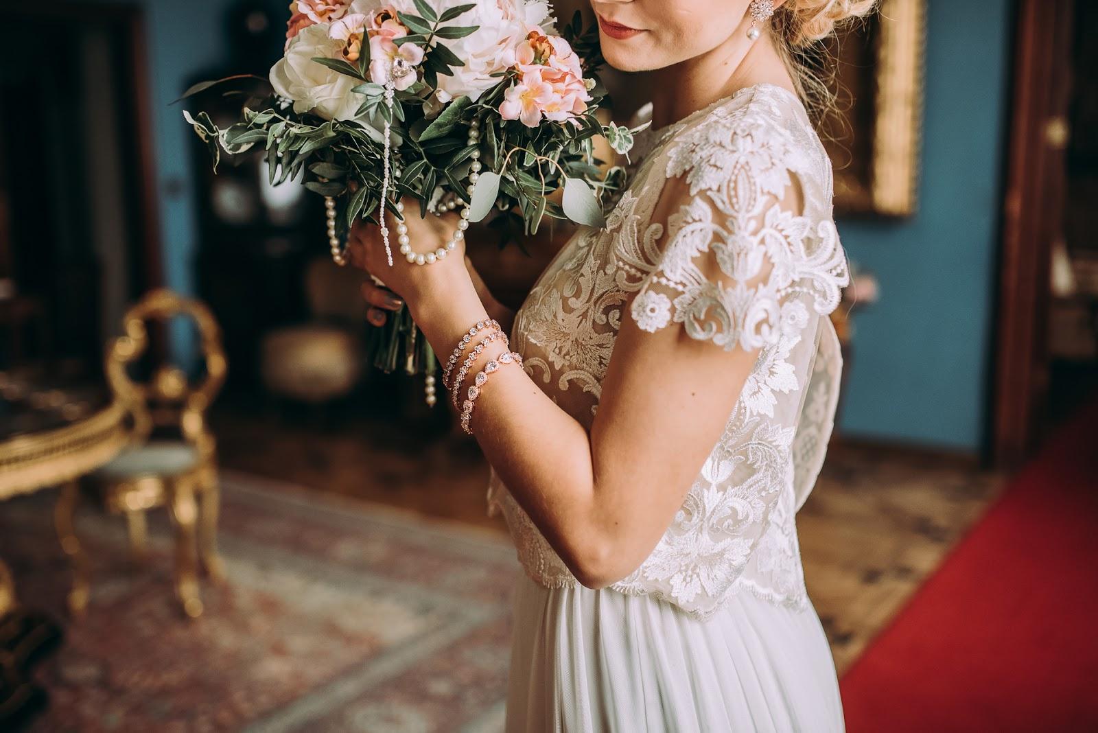 Bransoletki ślubne Rose Gold.