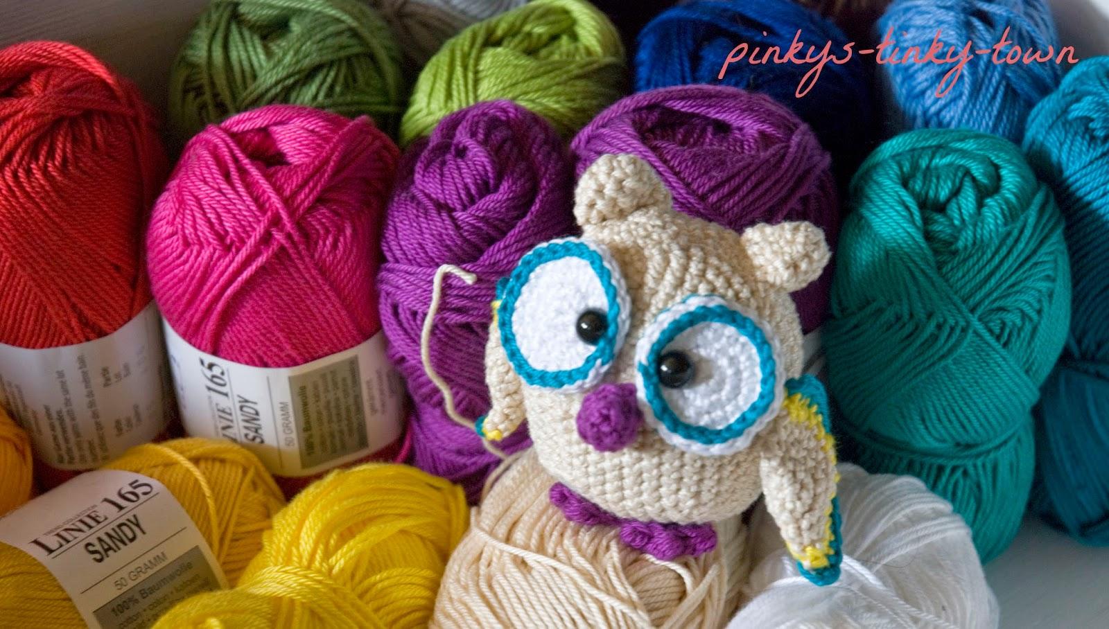 Pinkys Tinky Town Crochet Hedwig Hat Nachwuchs