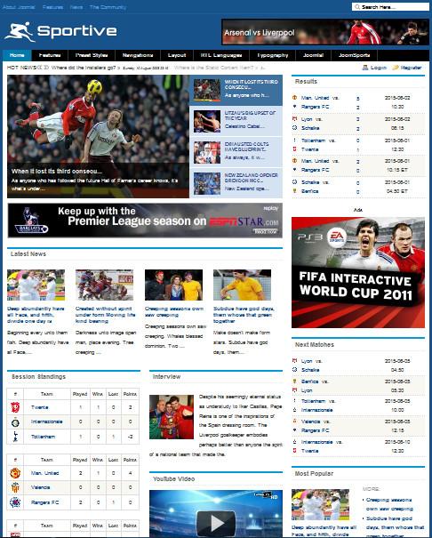 Sports club football, soccer, sport news theme.