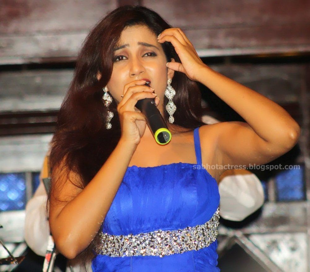 Gulfjobportal Shreya Ghoshal Hot Navel,Cleavage And Ampit -7273