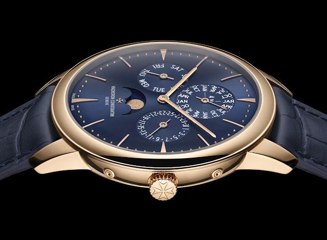 Vacheron Constantin Patrimony Perpetual Calendar Ultra-Thin Blue Ref 43175/000R-B519